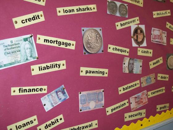 Money terms, Polkemmet Primary School, West Lothian.