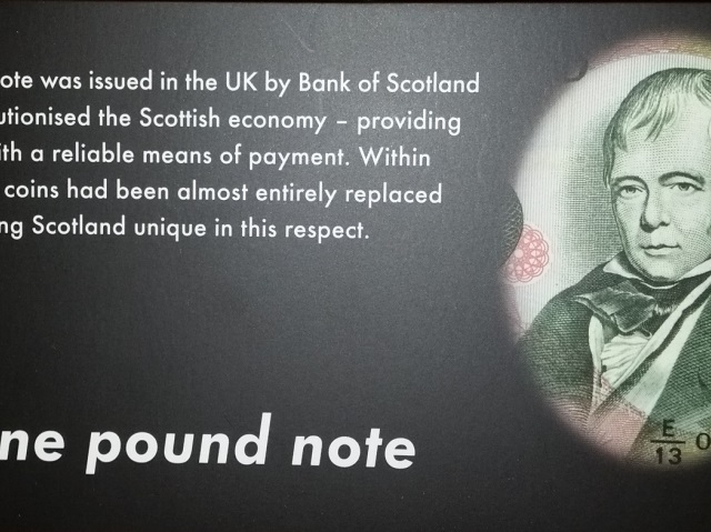 Last paper Bank of Scotland £1 note